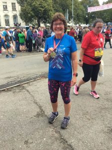 Fiona after completing Cardiff HM