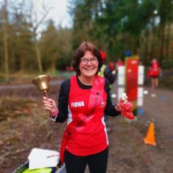 Fiona celebrates another parkrun PB